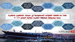 هذا ما تفعله القوات السعودية في ميناء نشطون بالمهرة