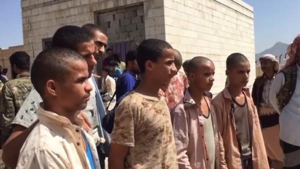 الضالع.. الإفراج عن أطفال أسرى جندهم الحوثيون