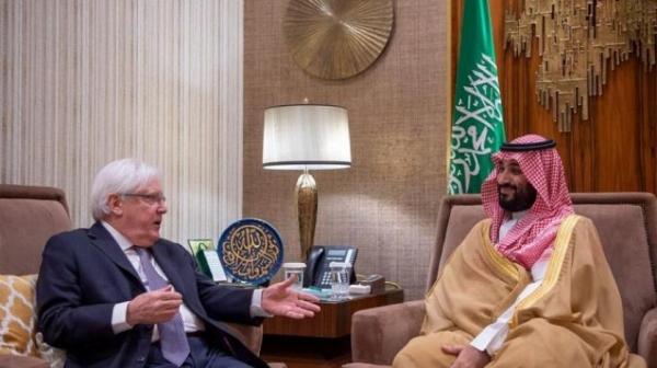 ولي العهد السعودي يلتقي المبعوث الأممي إلى اليمن