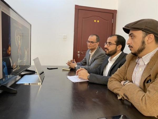 وفد الحوثي يبحث مع غريفيث الوضع الإنساني والحل السياسي الشامل