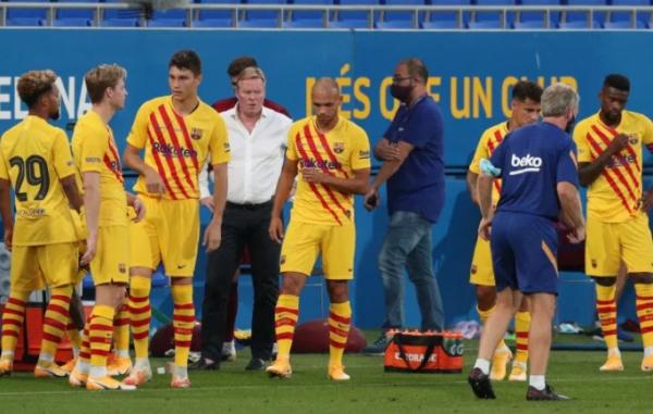 شاهد حصاد أول مباراة لبرشلونة.. تألق 7 لاعبين وكومان يغير طريقة اللعب