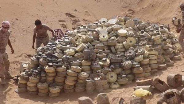 انتزاع 2772 لغما زرعها الحوثيون خلال الأسبوع الثاني من أبريل الجاري