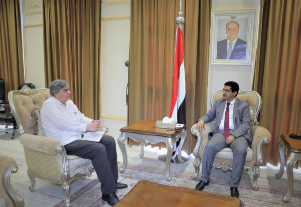 وكيل وزارة الخارجية يبحث مع سفير كوبا مستجدات الوضع في اليمن