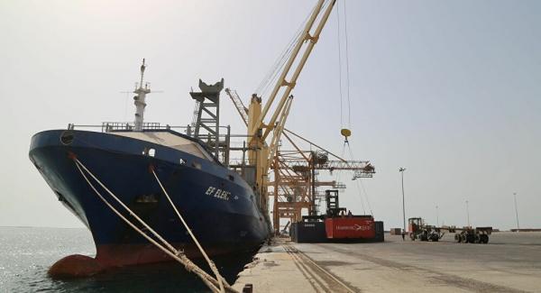جماعة الحوثي تعلن عن إبحار أول سفينة حاويات من جدة إلى الحديدة منذ بدء الحرب
