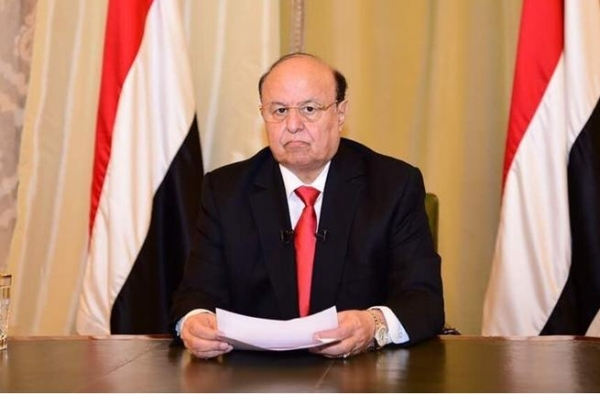 هادي: جماعة الحوثي تقتل السلام في اليمن والعالم في موقف المتفرج