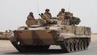 قوات  من التحالف معززة بالدبابات  والمدرعات  تعبر منفذ الوديعة لخوض معارك الجوف