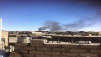 حريق هائل في سوق سوداء للمشتقات النفطية بذمار