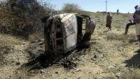 طائرة بدون طيار تقتل قيادي بتنظيم القاعدة وعدد من مرافقيه بأبين