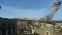طيران التحالف يقصف أهدافا للحوثيين بمديرية ريدة بعمران
