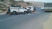 إصابة محافظ عمران ومدير شرطة المحافظة بحادث مروري وأنباء عن تدهور صحة المحافظ (صورة)