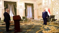 وزراء التخطيط والصناعة ومحافظ إب والنائب العام يؤدون اليمين الدستورية أمام الرئيس هادي