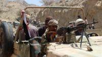 هجوم للمقاومة على مواقع المليشيا بذي ناعم بالبيضاء