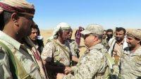 شبوة : المقدشي يتفقد الوحدات العسكرية في جبهة بيحان