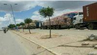 مليشيا الحوثي تحتجز عشرات الناقلات المحملة بالسلع الغذائية في ذمار