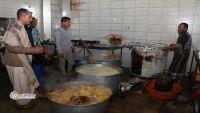 مليشيا الحوثي تغلق مطعما خيريا يطعم 400 أسرة نازحة في إب (صور)