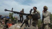 اندلاع مواجهات عنيفة بين قوات الجيش الوطني والمليشيات بجبهة مريس شمالي الضالع