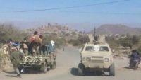 مسلحون يقطعون الخط العام بسناح احتجاجا على احتجاز أمن لحج لشحنة أسلحة