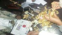 بحث مأرب يضبط عصابة قامت بسرقة محل مجوهرات بحضرموت (صور)