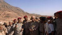 اللواء العقيلي يتفقد قوات الجيش الوطني في البيضاء