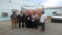 ائتلاف الإغاثة في إب يتسلم شحنة طبية لتوزيعها في المناطق المحررة