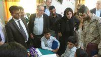 وفد من البرلمان الفرنسي وسفيرها في مأرب للاطلاع على انتهاكات الحوثيين
