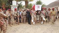 تشييع جثمان العميد الأحمر بمأرب بحضور نائب الرئيس