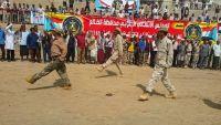 انتقالي الضالع يستعرض عسكريا بحضور السلطة المحلية