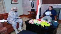 محافظ صعدة يطلع نائب الرئيس على المستجدات العسكرية بالمحافظة