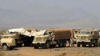 السعودية تدفع بقاطرات إلى مطار الغيضة تحمل عشرات الأطقم العسكرية