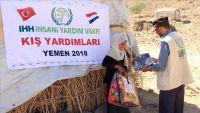 منظمة تركية توصل مساعدات شتوية إلى 1150 أسرة في صنعاء