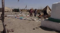 مقتل 8 مدنيين وإصابة العشرات بقصف حوثي على مخيم للنازحين في حجة