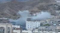 إصابة خمسة مدنيين بقصف حوثي استهدف حيا سكنيا بتعز