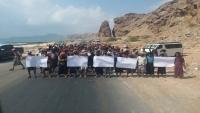 منع موكب لانتقالي شبوة من دخول سيئون للتظاهر ضد انعقاد البرلمان