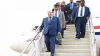 وصول الرئيس هادي إلى سيئون لحضور الجلسة الافتتاحية للبرلمان