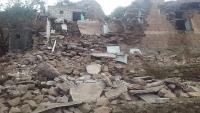انهيار منازل قريتين بالسدة بسبب الانزلاقات الأرضية ومخاوف من انهيار كامل مع اقتراب الحرب (صور)