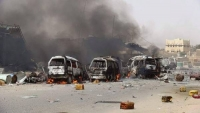 تعز .. مقتل ثمانية مواطنين في غارة جوية على محطة بنزين بماوية