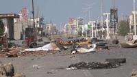 مقتل ثلاثة أشخاص من أسرة واحدة في قصف حوثي على مخيم في حيس