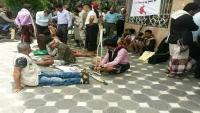 وقفة احتجاجية للجرحى في تعز تنديداً بإهمال السلطة المحلية