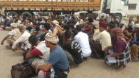 """قوات الحزام الأمني بـ""""لحج"""" تحتجز 80 من أفراد الجيش الوطني"""