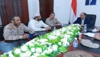 نائب الرئيس يصل مأرب ويعقد اجتماعا بقيادة وزارة الدفاع