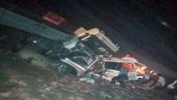 وفاة أربعة مسافرين على طريق العبر - مأرب في حادث مروري
