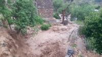 لحج.. خسائر مادية فادحة في أملاك المواطنين ومنازلهم بالقبيطة جراء الأمطار والسيول