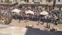 مجاميع الانتقالي يرفعون خيام اعتصامهم في سقطرى