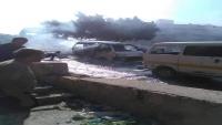 إصابة رجل وامرأة بقصف حوثي استهدف حي سكني بتعز