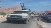 قوات من الحماية الرئاسية تصل عتق في طريقها إلى عدن