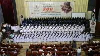 جمعية معاذ تحتفي بتخرج 300 حافظ وحافظة للقرآن الكريم في تعز