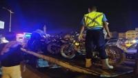 حضرموت.. حملة أمنية لضبط الدراجات النارية المخالفة بالمكلا