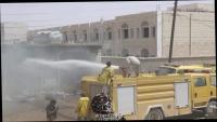 جرحى بصاروخ باليستي أطلقه الحوثيون على أحد الأحياء في مأرب