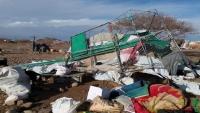 الأمطار تضاعف معاناة النازحين في مأرب