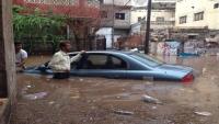 مفوضية اللاجئين تعلن تضرر 400 أسرة نازحة جراء الأمطار في عدن